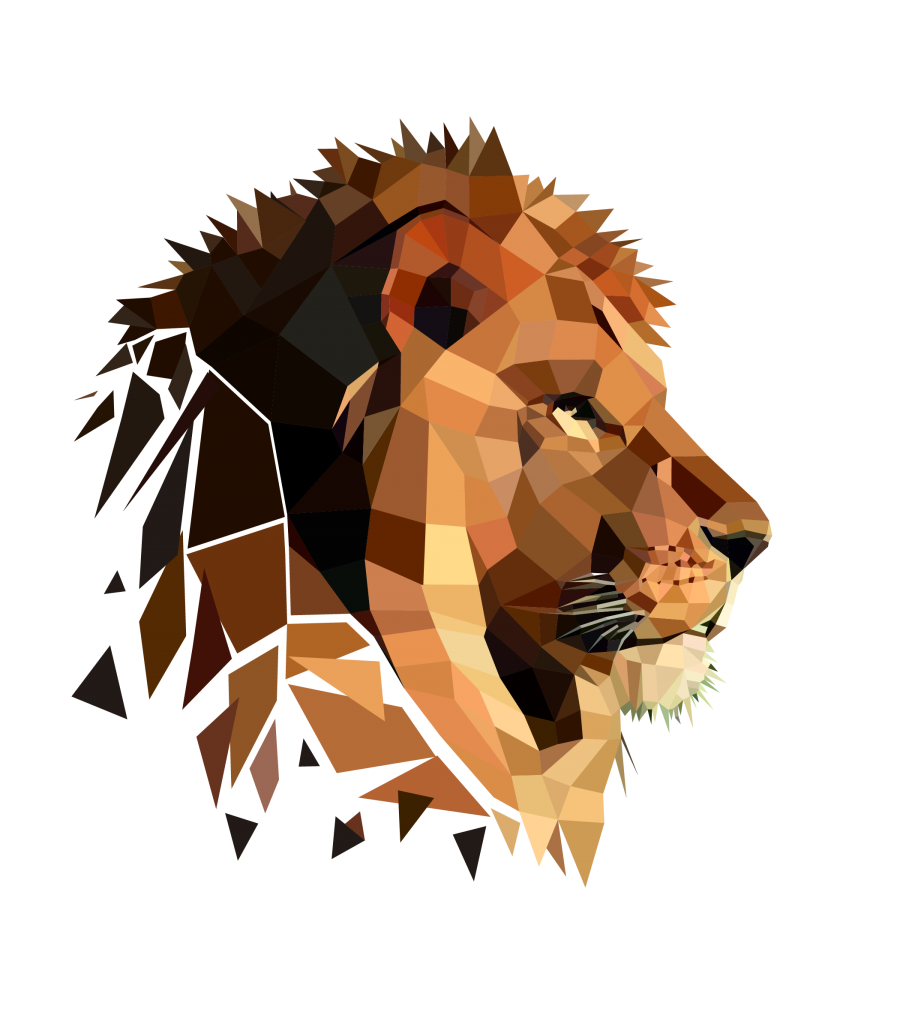Low poly Lion - Made by KRGrafik